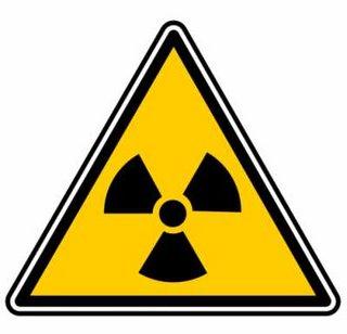 Simbolo dei rischi del nucleare
