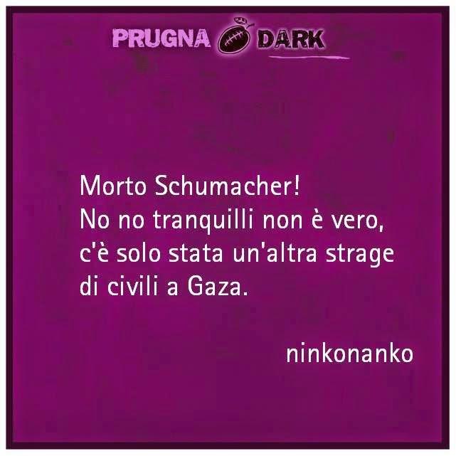 Umorismo nero su Michael Schumacher