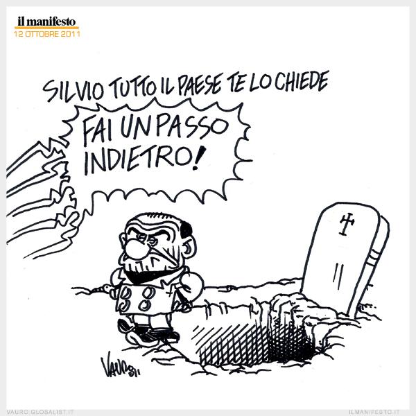 umorismo nero su Silvio Berlusconi