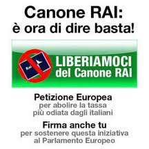 Manifesto contro il pizzo chiamato canone