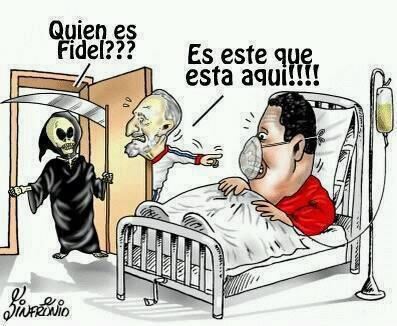 Umorismo nero su Fidel Castro e Hugo Chávez