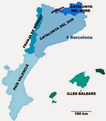 Mappa della diffusione del catalano