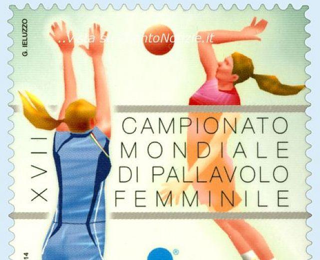 Francobollo in onore del campionato mondiale di pallavolo femminile del 2014