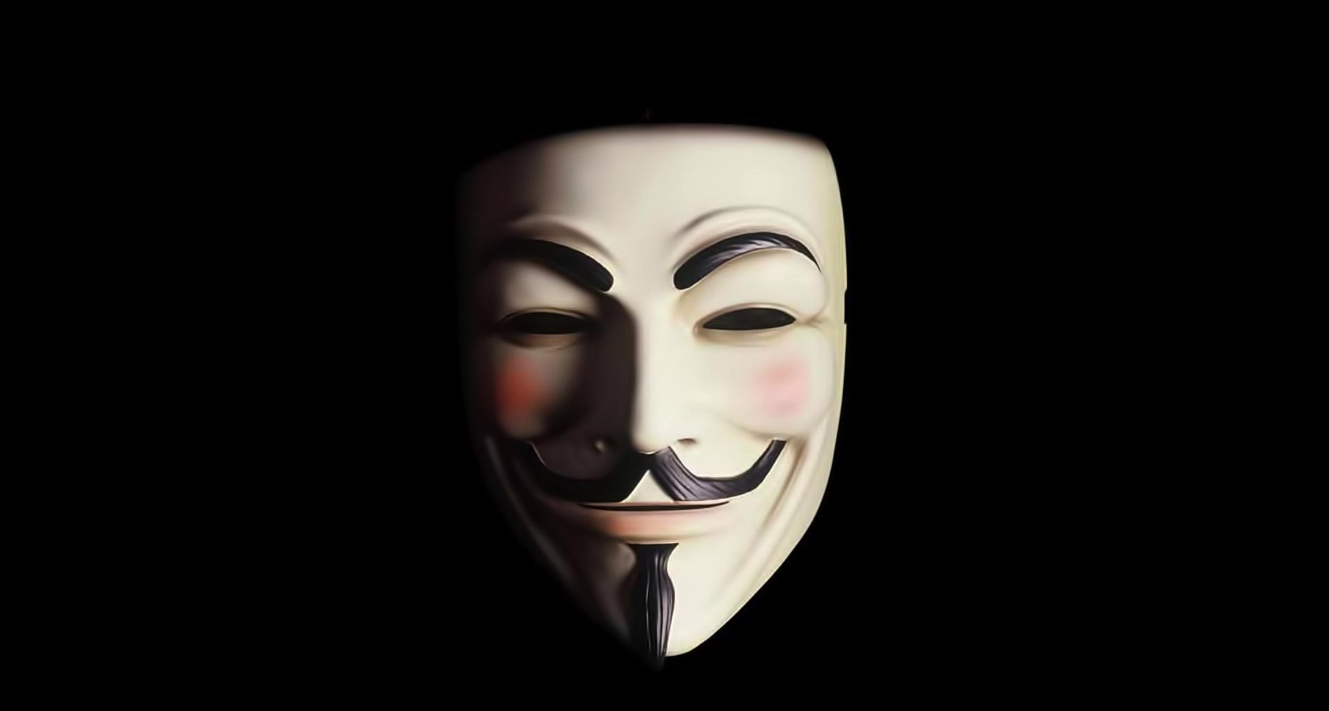 Maschera presente nel film «V per Vendetta»