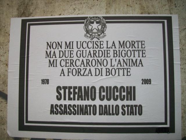 Manifesto su Stefano Cucchi