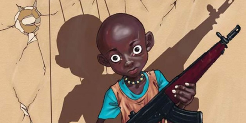 Luis Quiles fa satira sul fenomeno dei bambini soldato