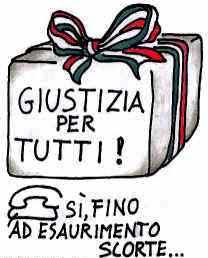 satira sul sistema giudiziario italiano
