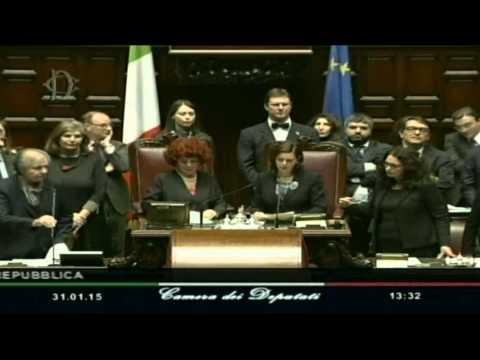 Laura Boldrini e Valeria Fedeli in una seduta di elezione del presidente della Repubblica