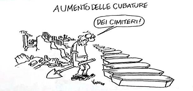vignetta disegnata da Vauro dopo il terremoto dell'Aquila