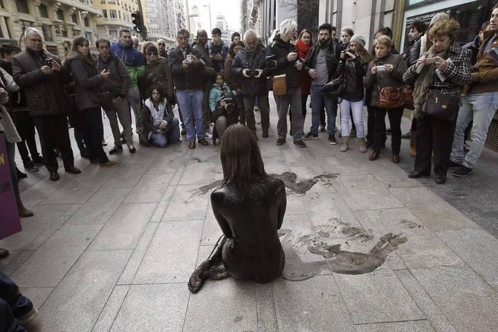 manifestazione nudista di Jil Love