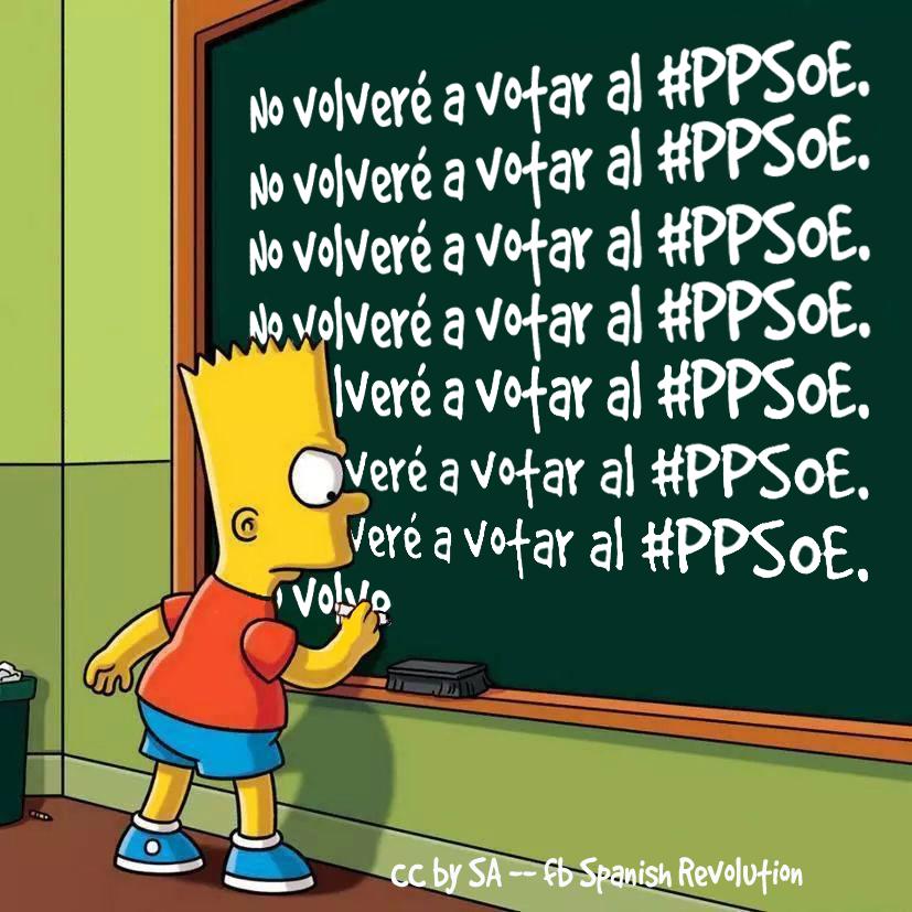 Bart Simpson non voterà più per il PPSOE
