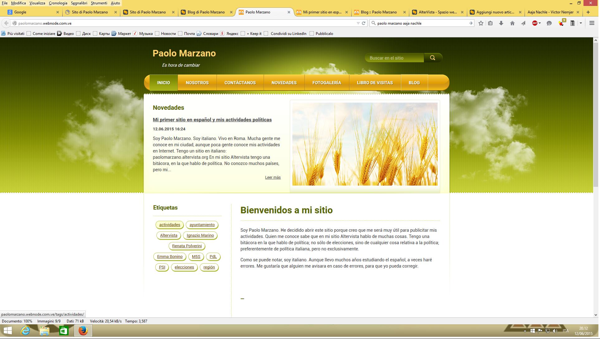 nuovo sito in spagnolo