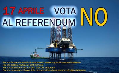 ragioni del no al referendum sulle trivellazioni