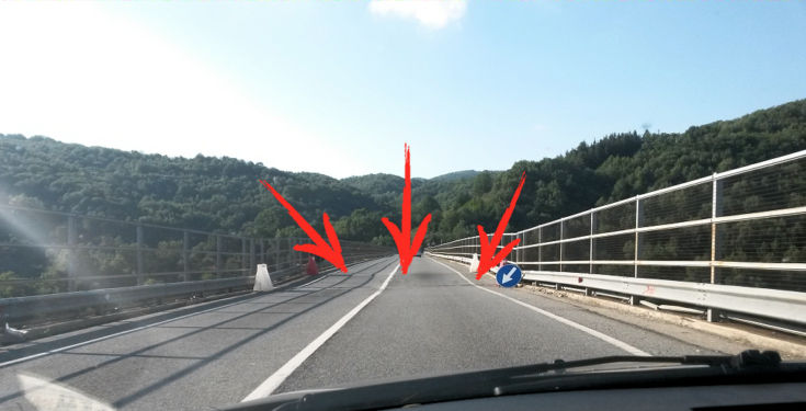 Viadotto Cannavino visto da sopra