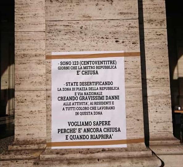 manifesto di Piazza della Repubblica